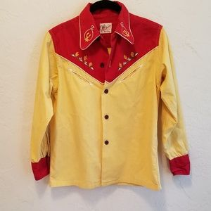 Vintage 1950s Roy Rogers Embroidered Cowboy Shirt